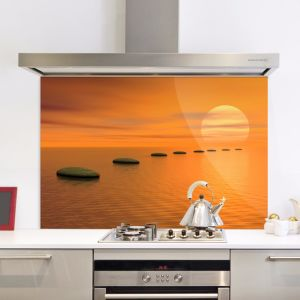 Tempered Painted Glass Splash Back for Kitchen pictures & photos