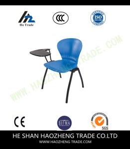 Hzpc273 Capacity Black Plastic Stack Chair with Fabric Surface pictures & photos