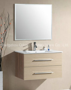 Wall-Mounted MDF Bathroom Vanity with Melamine Furniture pictures & photos