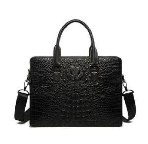 High Quality Crocodile Grain Men Fashion Genuine Leather Cross Body Handbags pictures & photos