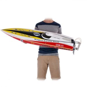 225bl057ap-Original Flame Racing Boat 1300bp 60km-H High Speed Electric Fiberglass RC Boat with Fs-Gt2 2.4G Transmitter pictures & photos
