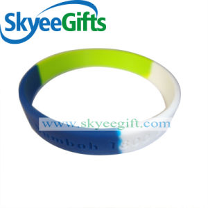 Printed Logo Custom Silicone Wristband pictures & photos