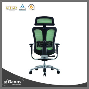 Wholesale Office Chair Mesh Back Fabric Seat Office Chair with Headrest pictures & photos