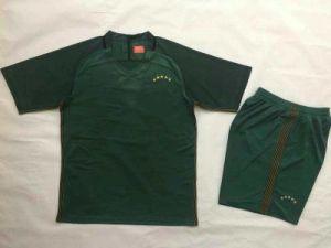 1718 Brazil Green Abd Blue Football Uniforms pictures & photos