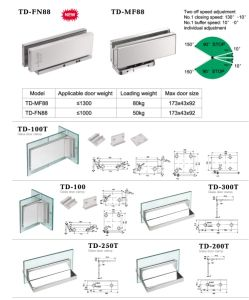 Concealed Door Closer Door Fittings Accessories 680A pictures & photos