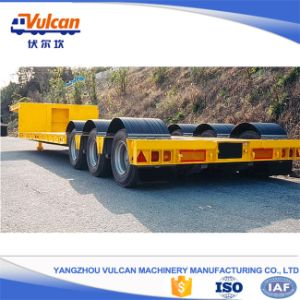 Good Quality 60 Tons Low Bed Semi Trailer with ISO9001