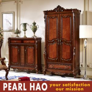 Classical Solid Wood Open Door Storage Wardrobe pictures & photos