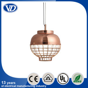 Scandinavian Modern Metal Mesh Rose Gold Single Head Pendant Light