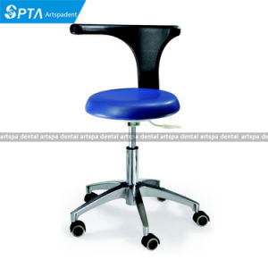 Dental Chair Assistance Stool Metal Base Dentist Stool Dental Stool pictures & photos
