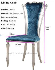 Modern PU Leather Cheap Gold King Throne Dining Chair pictures & photos
