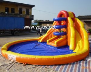 Inflatable Pool Double Lane Water Slide for Commercial Use pictures & photos