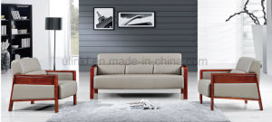 Fashion Design Office Furniture Wood Leg Leather Sectional Sofa (HX-CF018) pictures & photos