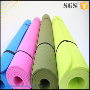Gold Supplier Custom TPE Yoga Mat with Strap pictures & photos