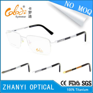 No MOQ Latest Design Titanium Eyewear Eyeglass Glasses Optical Frame (T8302)
