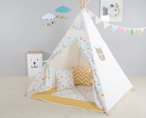 Animal Zoom Wooden Teepee Playing Tent for Kids (MW6031) pictures & photos
