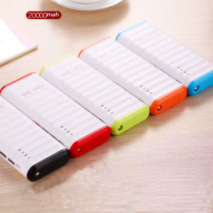 Portable Charger 10000mAh 2 USB Battery Power Bank with LED Lamp pictures & photos