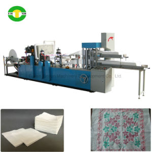 Full Automatic 1/4 Folding Color Printing Napkin Tissue Paper Making Machine pictures & photos
