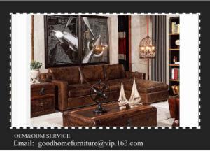 Brown Color Restaurant Hotel Furniture Leather Sofa Sets Design pictures & photos