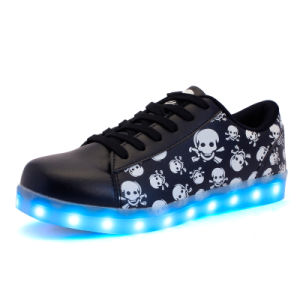 7 Colors Unique Skull LED Shoes Light for Party pictures & photos