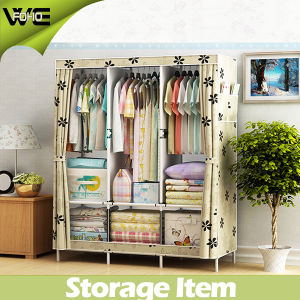 Cheap Portable Wardrobes Printing Home Furniture Cloth Wardrobe pictures & photos