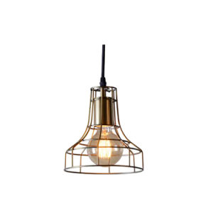 Metal Mesh Cage Hanging Light Bulbs Gold Color Dining Room Hanging Light Fixture Oz-Al631 pictures & photos