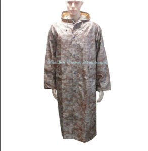 Waterproof Long Raincoat in Desert Digital Camouflage pictures & photos