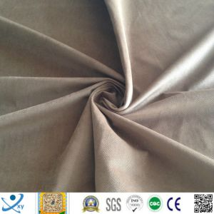 Fabric for Kid Toy /Super Soft High Quality Stock Fabric 100 Polyester Fleece Fabric Plain Green Fleece Velvet pictures & photos