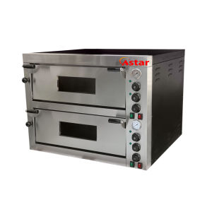 Professional Two Decks Electric Pizza Oven Food Machinery Pizza Baking Oven pictures & photos