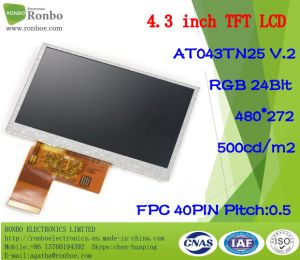 4.3 Inch 480X272 RGB 40pin Innolux At043tn25 Orignal New LCD Display pictures & photos