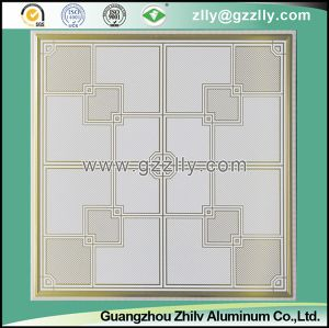 False Roller Coating Printing Ceiling Tile with Pattern -Unfolding Domination Champagne pictures & photos