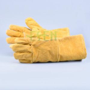 Thumb Unlined Cow Grain Softtextile Leather Glove, Driving Gloves pictures & photos