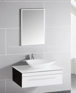 Hot Selling MDF Bathroom Vanity with Ceramic Basin and Mirror Cabinet pictures & photos