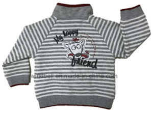 Yarn Striped Jacket for Baby Girl pictures & photos
