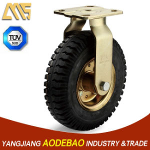 Heavy Duty Pneumatic Rubber Fix Caster Wheel pictures & photos