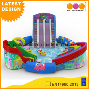 Aqua Park Equipment Octopus Inflatable Water Amusement Park with Slide and Swimming Pool (AQ01773) pictures & photos