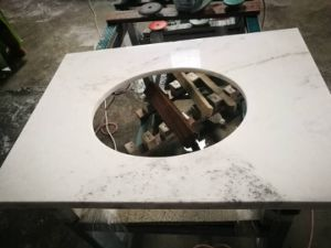 Popular China White Marble Castro White for Countertop Vanity pictures & photos