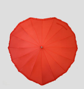 Red Heart Shaped Umbrella pictures & photos
