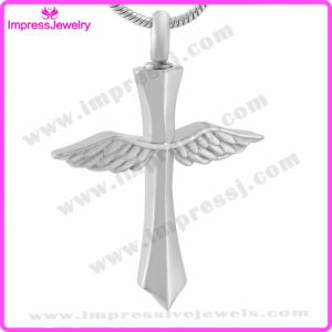 Wings on Cross Blank Cremation Pendant Necklace Memorial Ashes Keepsake Holder (IJD9654) pictures & photos