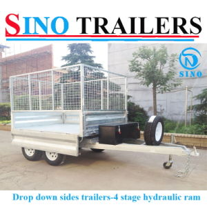 Bolted Heavy Duty Box Hydraulic Tipping Trailer pictures & photos