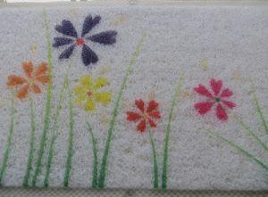Clear PVC Loofa Floor Mat Bathroom Shower Rug pictures & photos