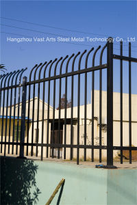 Haohan Black Simple Industrial Residential Security Galvanized Steel Arc Fence 43 pictures & photos