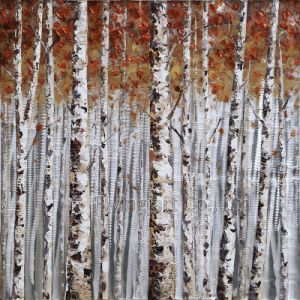 Aluminum Panel Art Painting for Trees pictures & photos
