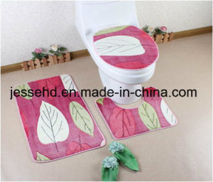 3PCS Bathroom Set Comfortable and Non Slip Coral Fleece Mat pictures & photos
