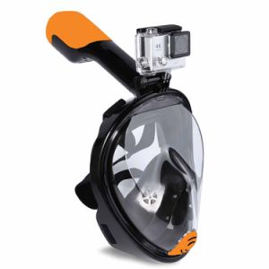 New Design Silicone Full Face Snorkel Mask Diving Mask with Copro Camera Mount pictures & photos