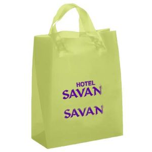 LDPE Printed Recycle Plastic Bag with Handles for Shopping pictures & photos