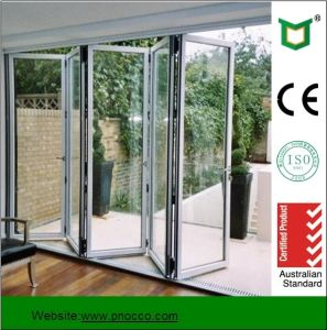 Building Material Aluminium Bi-Fold Door and Glass Accordion Door with ISO9001 pictures & photos