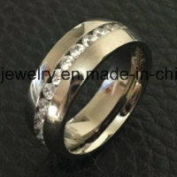 Shineme Jewelry High Quality 9 Stones Titanium Jewellry Ring (TR1871) pictures & photos