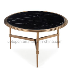Europe Style Black Marble Round Table for Living Room (SP-GT446) pictures & photos