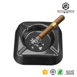 Hot Selling Custom Carbon Fiber Cigar Ashtray with Logo, Glossy Real Carbon Fiber Gifts pictures & photos