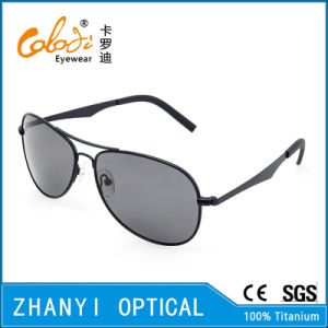 New Arrival Titanium Sun Glasses for Driving with Polaroid Lense (T3026-C1)